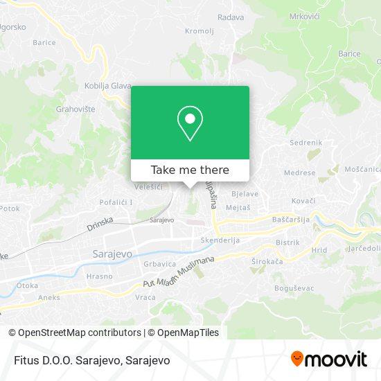 Fitus D.O.O. Sarajevo map