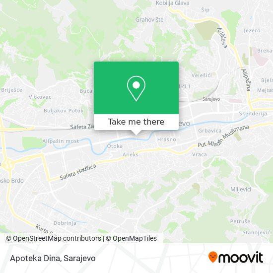 Apoteka Dina map