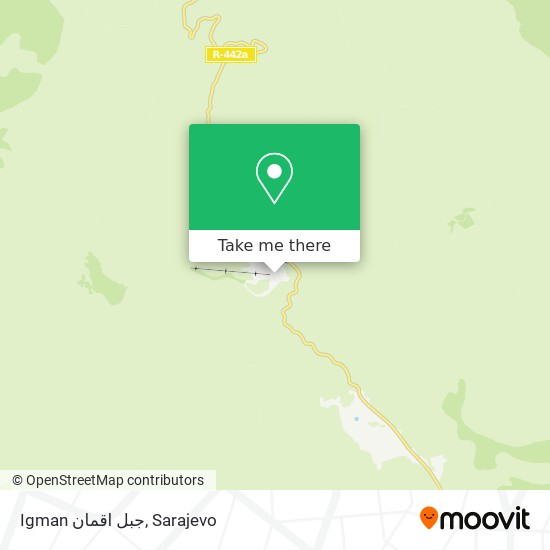 Igman جبل اقمان map