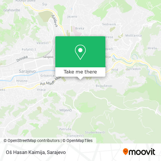 Oš Hasan Kaimija map