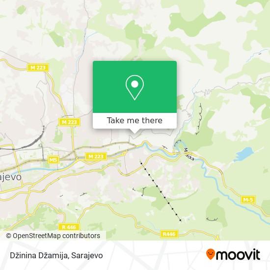 Džinina Džamija map