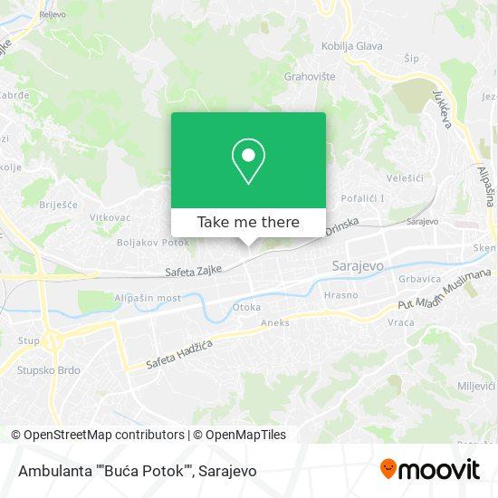 "Ambulanta ""Buća Potok"" map"