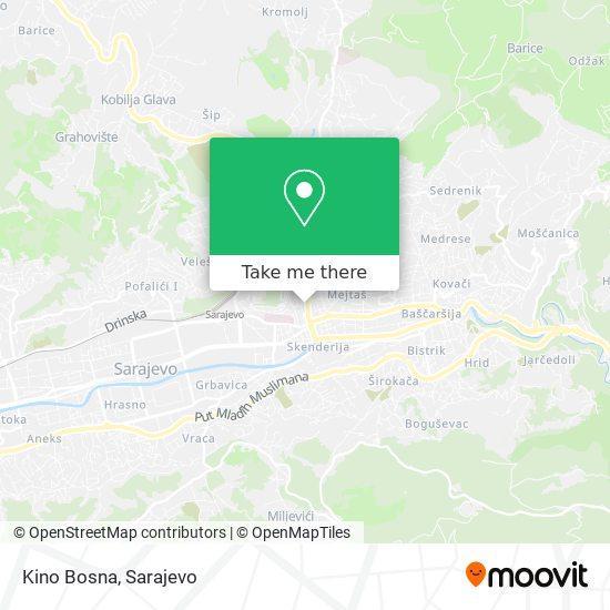 Kino Bosna map