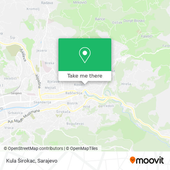 Kula Širokac map