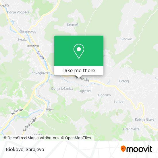 Biokovo map