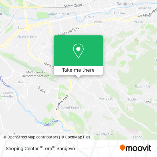 "Shoping Centar ""Tom"" map"