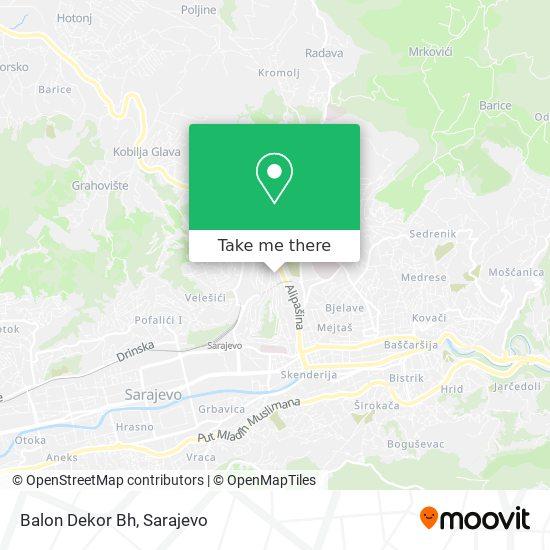 Balon Dekor Bh map