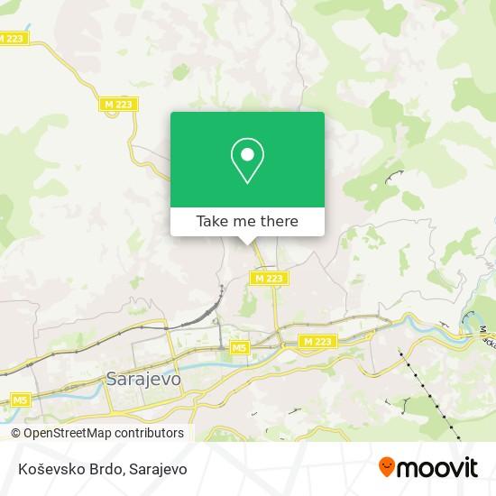 Koševsko Brdo map