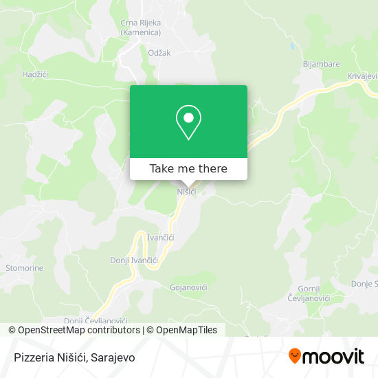Pizzeria Nisici map