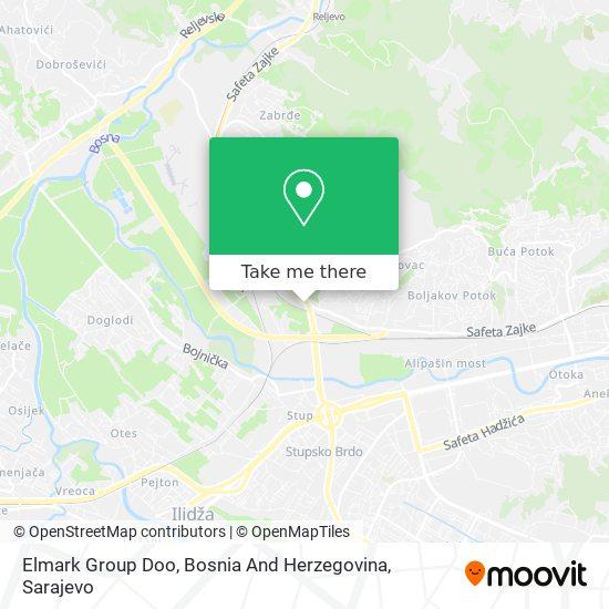 Elmark Group Doo, Bosna And Herzegovina map
