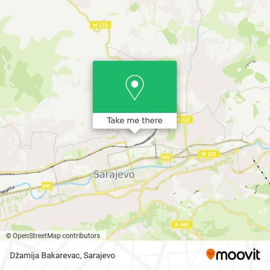 Džamija Bakarevac map
