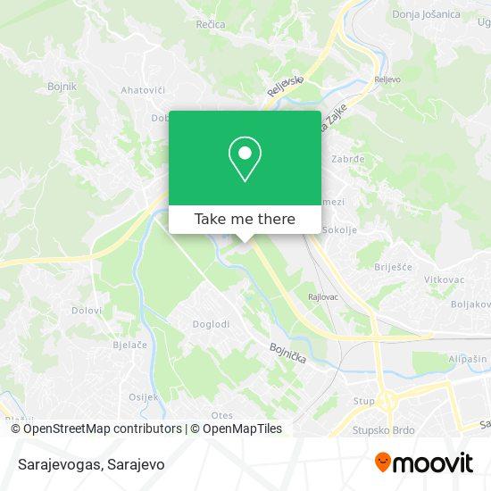 Sarajevogas map