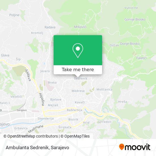 Ambulanta Sedrenik map