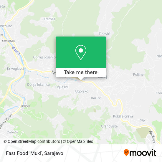Fast Food 'Muki' map