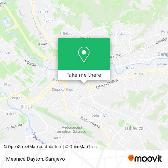 Mesnica Dayton map