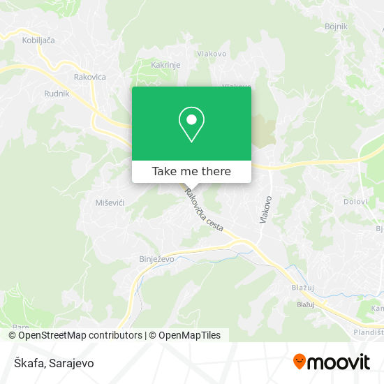 Škafa map