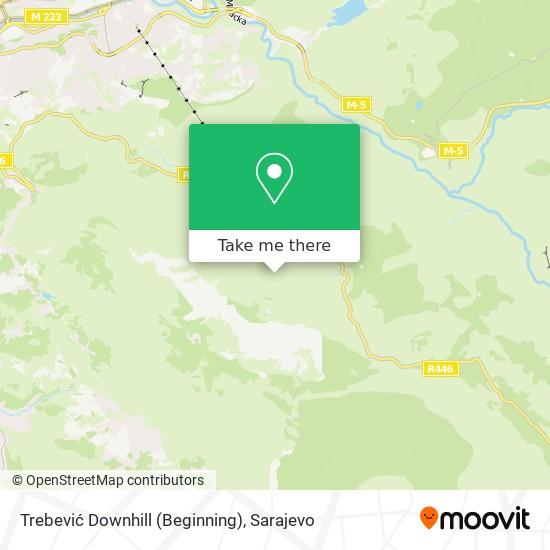 Trebević Downhill (Beginning) map