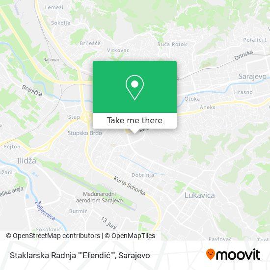 "Staklarska Radnja ""Efendić"" map"