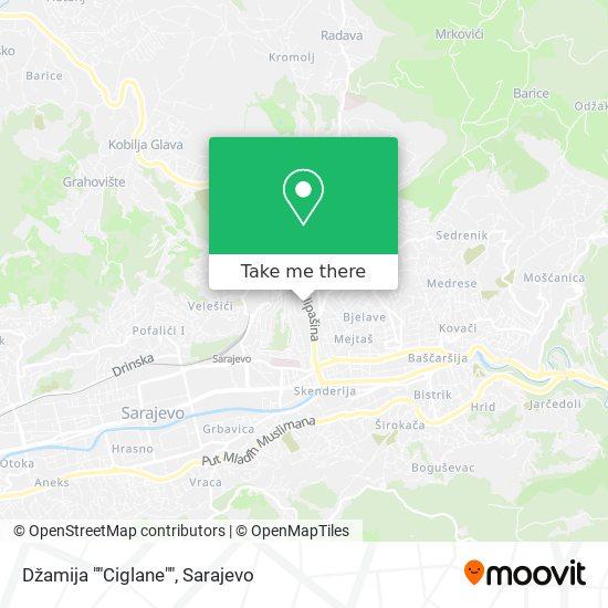 "Džamija ""Ciglane"" map"