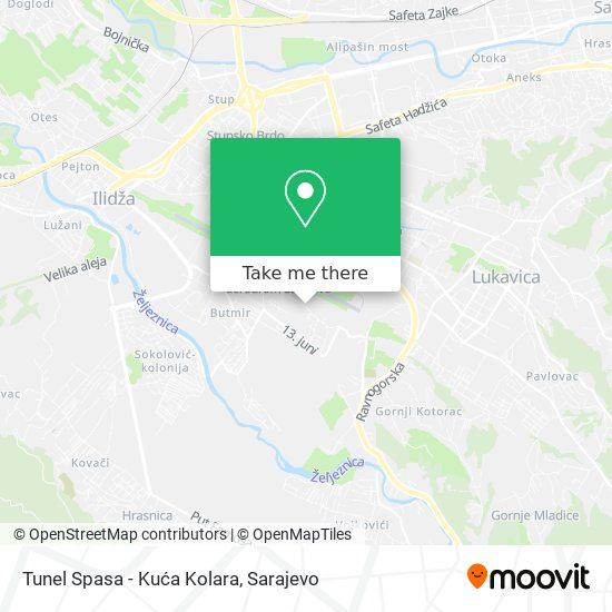 Tunel Spasa map