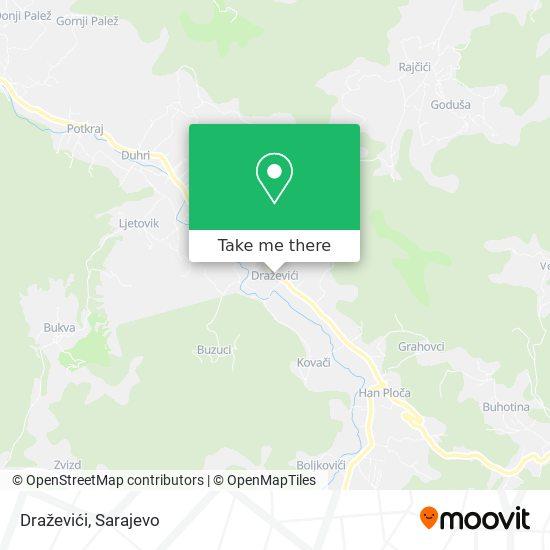Draževići map