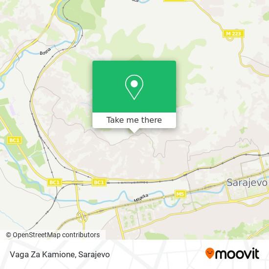 Vaga Za Kamione map