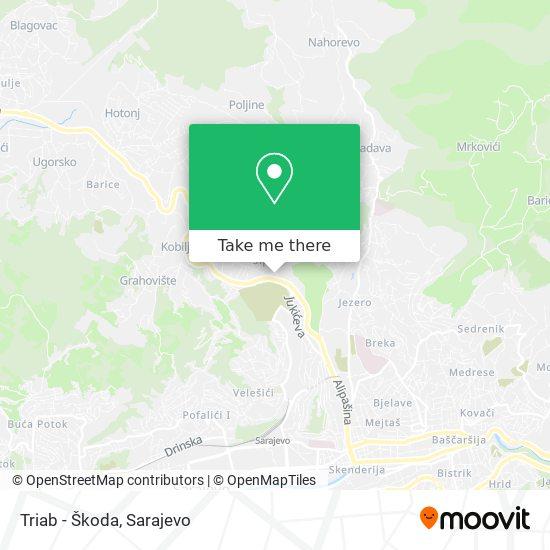 Triab - Škoda map