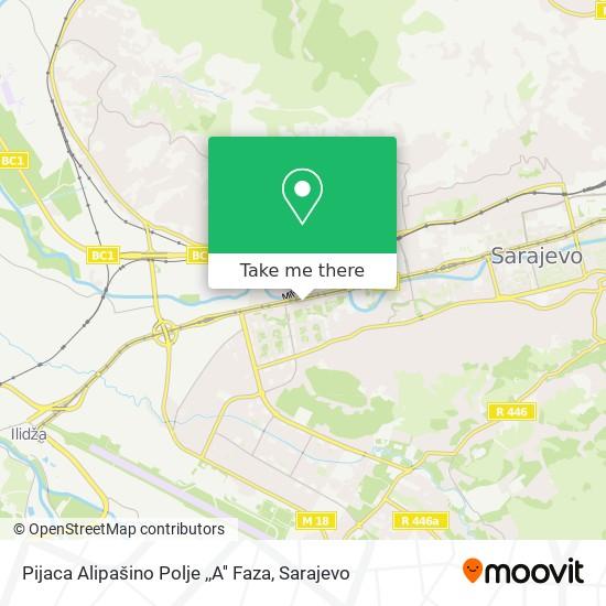 Pijaca Alipašino Polje  ,,A'' Faza map