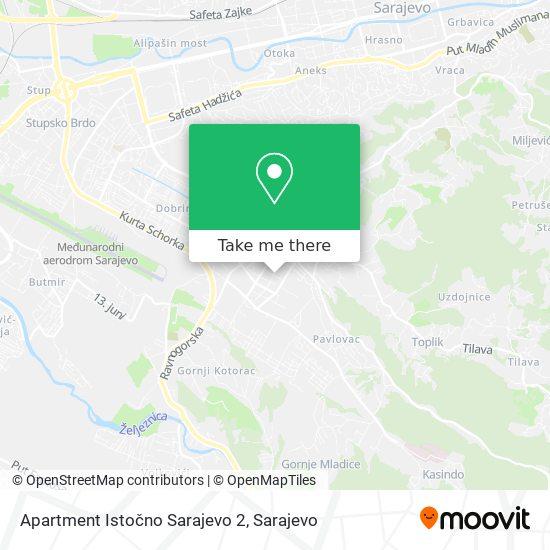 Apartment Istočno Sarajevo 2 map