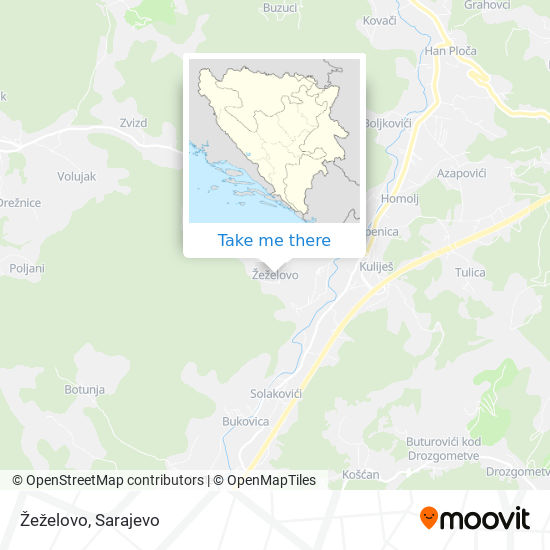 Žeželovo map