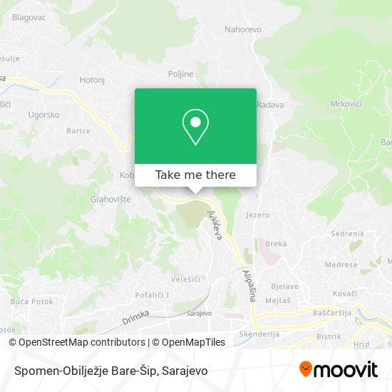 Spomen-Obilježje Bare-Šip map