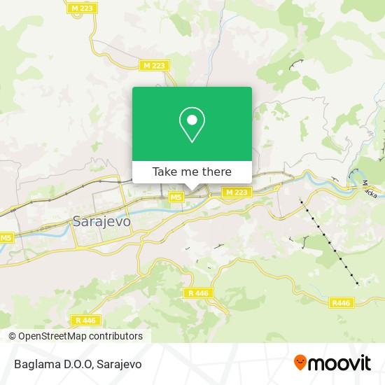 Baglama D.O.O map