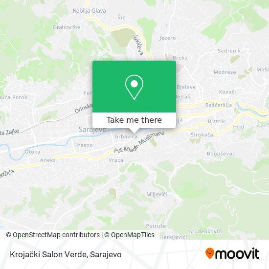 Krojački Salon Verde map