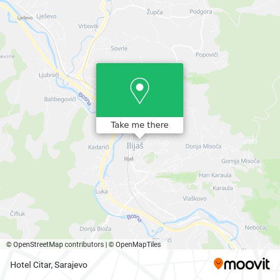 Hotel Citar map