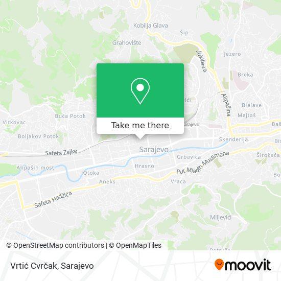 Vrtić Cvrčak map