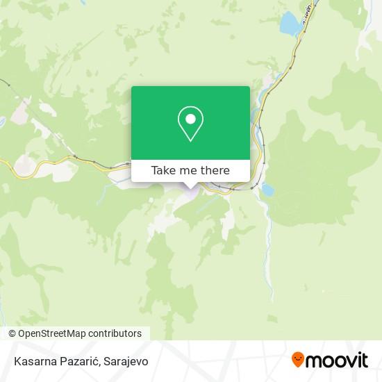 Kasarna Pazarić map