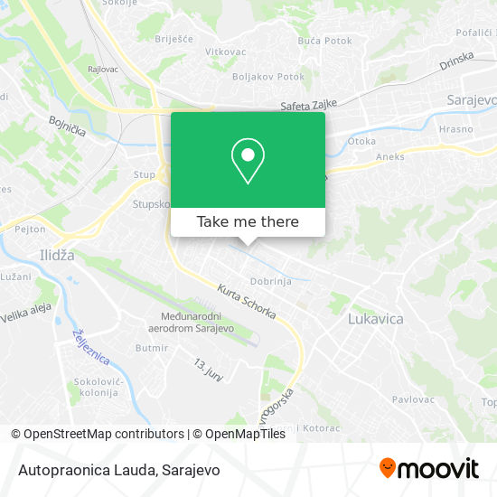 Autopraonica Lauda map