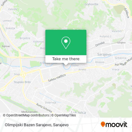 Olimpijski Bazen Sarajevo map