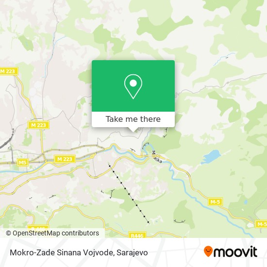 Mokro-Zade Sinana Vojvode map