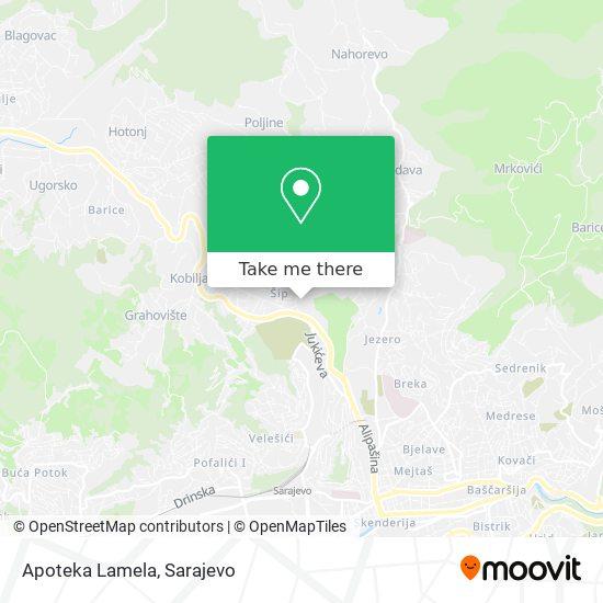 Apoteka Lamela map