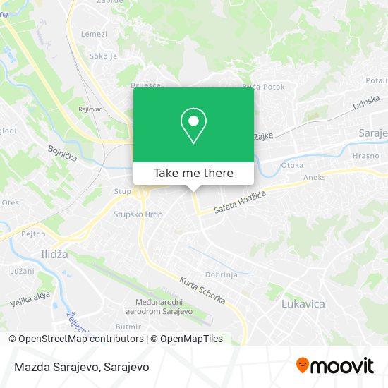 Mazda Sarajevo map