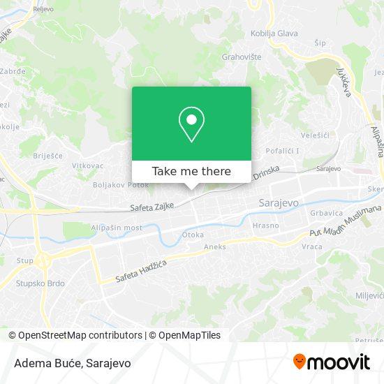 Adema Buće map