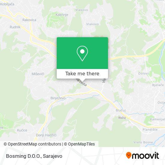 Bosming D.O.O. map