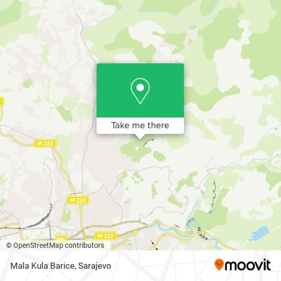 Mala Kula Barice map
