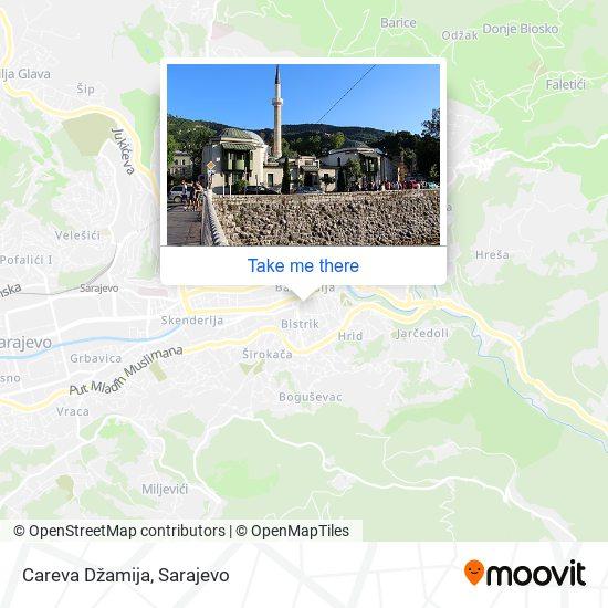 Careva Džamija map