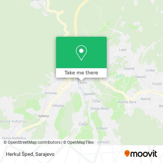 Herkul Šped map