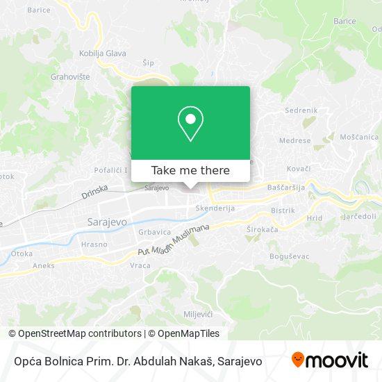 Opća Bolnica Dr. Abdulah Nakaš map