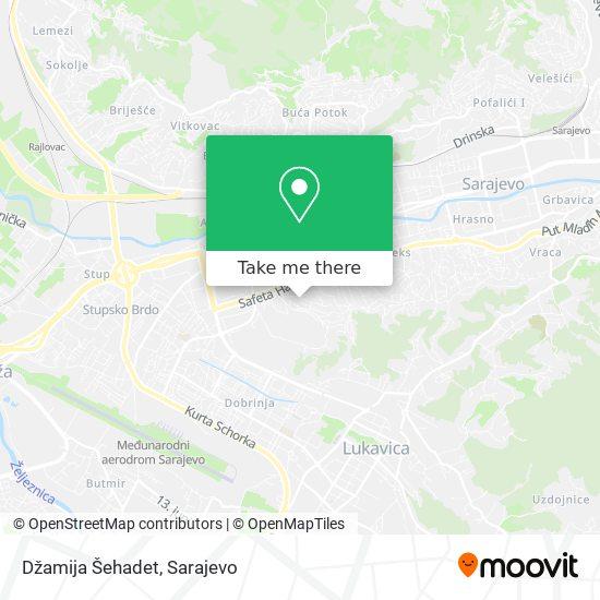 Džamija Šehadet map
