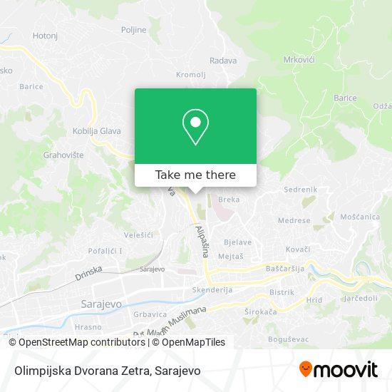 Olimpijska Dvorana Zetra map