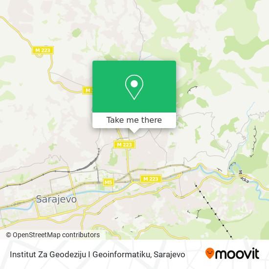 Institut Za Geodeziju I Geoinformatiku map